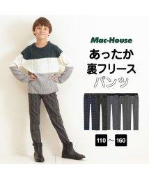 MAC HOUSE(kid's)/Navy ネイビー ボーイズ 裏シャギーパンツ柄 M21274/501420608