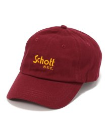 Schott/【men's FUDGE 7月号掲載】Schott/ショット/COTTON TWILL CAP BASIC LOGO/コットン ツイル ベーシックキャップ/501425701