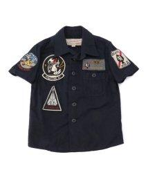 AVIREX/avirex/アヴィレックス/キッズ ミリタリーシャツ ブラックエース/KIDS MILITARY SHIRT BLACK ACE/501425976