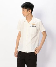 AVIREX/AVIREX/アヴィレックス/ エアパトロール 刺繍 シャツ/S/S AIR PATROL EMBROIDERY SHIRT/501426979