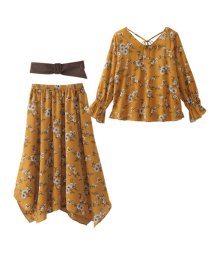 GeeRa/ベルト&花柄ブラウス&スカート3点セット  /501378474