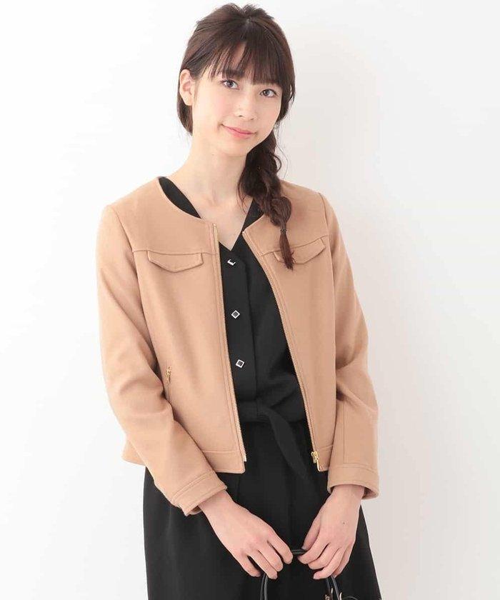 ジップアップデザインジャケット