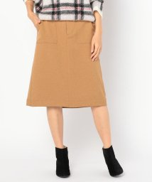 FREDY REPIT/[新色追加]ウーリーサージ台形スカート/501415715