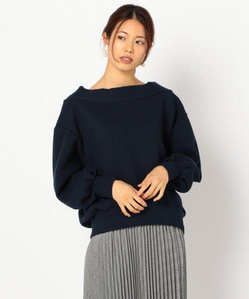 NOLLEY'S(ノーリーズ)/起毛裏毛ボートネックプルオーバーカットソー/8-0040-6-03-004