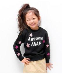 ANAP KIDS/ラメプリントトレーナー/501416217