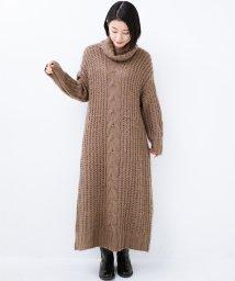 haco!/haco! パッと着て女っぽくなれる気がする ふんわり素材のケーブルニットワンピース/501421128