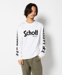 Schott/Schott/ショット/LONG SLEEVE T-SHIRT BASIC SCHOTT LOGO/ショット ロゴ 長袖Tシャツ/501430362