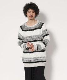 GARDEN/Robes&Confections/ローブスアンドコンフェクションズ/Multi-border Knit Crew Neck Sweater/マルチボー/501432370