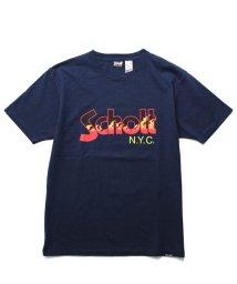 Schott/Schott/ショット/FLAME LOGO T-SHIRT/フレイムロゴ ファイヤーパターン Tシャツ/501434685