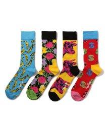 BEAVER/Happy Socks/ハッピーソックス Andy Warhol SOCK BOX SET 4PACK Men's/501436293