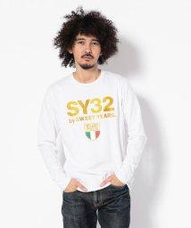 RoyalFlash/SY32 by SWEETYEARS /エスワイサーティトゥバイ スィートイヤーズ /エンブレムグラフィックLS Tシャツ/501436460