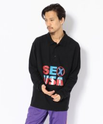 LHP/PLEASURES/プレジャーズ/SEX USA L/S POLOSHIRTS/501436706