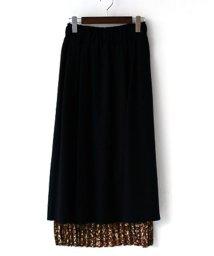 REAL CUBE/CYNICAL バックプリーツプリントスカート/501437910
