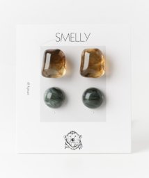 SMELLY/カラークリアマーブル4ピアスセット/501438123