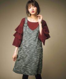GeeRa/カットツイードジャンパースカート      /501378350