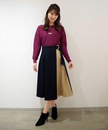 Eimy Peal by POWDER SUGAR/配色ラップスカート/501439032