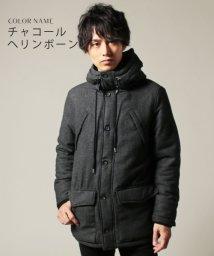 THE CASUAL/(スプ) SPU ツイード中綿フーテッドジャケット/501439143