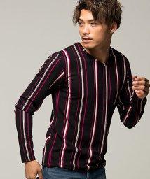 CavariA/CavariA【キャバリア】ストライプ柄Vネック長袖Tシャツ/501439971