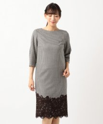 ICB(LARGE SIZE)/Lace Pattern Combo ワンピース/501440131