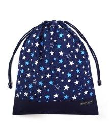 COLORFUL CANDY STYLE/巾着 大 体操服袋(ネームタグ付き) スターライトプラネット(ネイビー) × オックス・紺/501440163