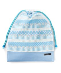 COLORFUL CANDY STYLE/巾着 大 体操服袋(ネームタグ付き) ポルカドットとレースリボンに魅せられて(ライトブルー)×オックス・サックス/501440165