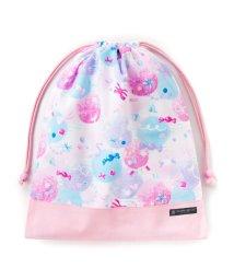 COLORFUL CANDY STYLE/巾着 大 体操服袋(ネームタグ付き) ふわふわキュートなキャンディポップ × オックス・ピンク/501440168
