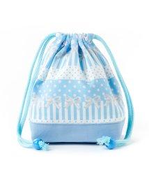 COLORFUL CANDY STYLE/巾着 小 コップ袋 ポルカドットとレースリボンに魅せられて(ライトブルー)×オックス・サックス/501440173
