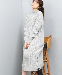 ViS/裾釦ロングケーブルニットワンピース/501440724