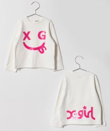 X-girl Stages/エックススマイルプリントTシャツ/501419489