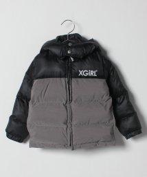X-girl Stages/切替えロゴ入り中わたジャケット/501419491