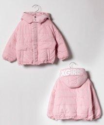 X-girl Stages/フードつきオーバーサイズ中綿入り2WAYジャケット/501419492