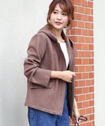 Bou Jeloud/◆ストレッチ素材で着やすい◆ジャージメルトンショートジャケット/501422778