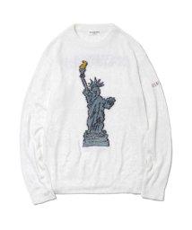 GELATO PIQUE HOMME/【GELATO PIQUE HOMME】'スムージィー'New York ジャガードプルオーバー/501442237