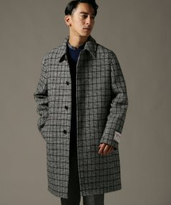 Harris Tweed Split Raglan Coat 18020300200230: Black A