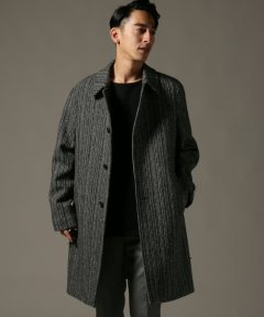 Harris Tweed Split Raglan Coat 18020300200230: Black B