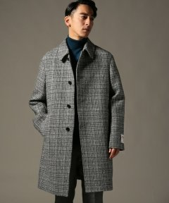 Harris Tweed Split Raglan Coat 18020300200230: Grey