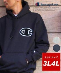 MARUKAWA/大きいサイズ【Champion】裏起毛スウェット ビッグワッペン プルオーバーパーカー/501419869
