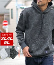 MARUKAWA/大きいサイズ 裏起毛ニット プルオーバー パーカー/501419872