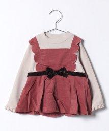 petit main/スカラップエプロン風ハイネックTシャツ/501422411