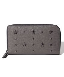 JIMMY CHOO/【JIMMYCHOO】ラウンドファスナー財布 GRAINY CALF WITH STAR AND PEARL STUDS/501422440