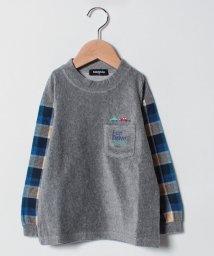 kladskap/車刺しゅう袖チェックTシャツ/501434516