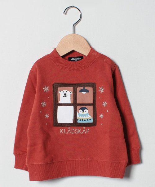 kladskap(クレードスコープ)/窓アニマルモックネック裏起毛トレーナー/5384224
