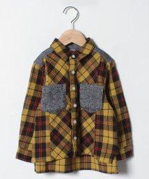petit main/無地ポケットつきチェックシャツ/501434521