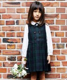 green label relaxing (Kids)/TW ブラックウォッチ ジャンパースカート/501442867