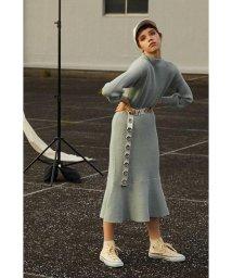 PROPORTION BODY DRESSING/《BLANCHIC》ペプラムニットワンピース/501443056