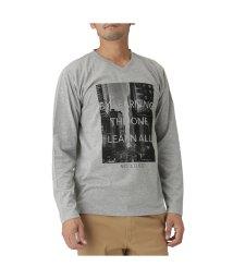 MAC HOUSE(men)/T-GRAPHICS プリントVネックTシャツ EJ185-MC114/501444160