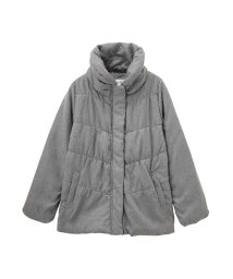 MAC HOUSE(women)/Navy フラノプリント ボリューム衿シャーリングジャケット NHPH6501L/501444187