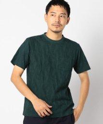 SHIPS MEN/SC: MADE IN JAPAN モチーフ ジャガード/リーフ ポケット Tシャツ/500942505