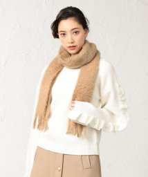 LE JOUR/【MANTAS EZCARAY】Mohair Liso with Big Fringe/501441120