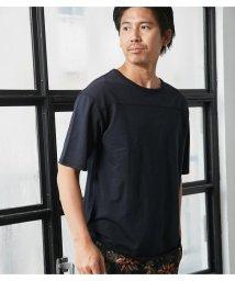 AZUL by moussy/TCミニ裏毛クルーネック五分袖PO/501446048